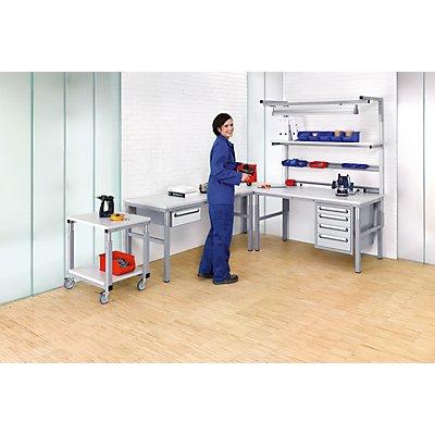 RAU Arbeitsplatz-System, höhenverstellbar von 650 – 1000 mm - Grundtisch