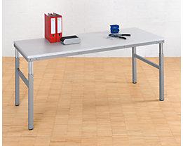 RAU Postes de travail modulaires, réglables en hauteur de 650 à 1000 mm - table de base