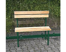Sitzbank mit Holzauflage - Länge 900 mm für 2 Plätze