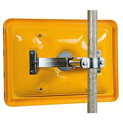 Pfostenmontage-Adapter - mit Schelle für Rohr-Ø 50 – 85 mm - horizontal und vertikal einstellbar