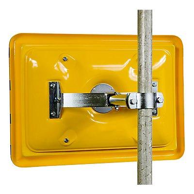 dancop Pfostenmontage-Adapter - mit Schelle für Rohr-Ø 50 – 85 mm - horizontal und vertikal einstellbar
