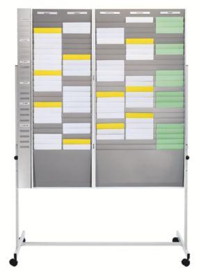 Tafelständer - zum Einhängen von Karten-Sortiertafeln - fahrbar