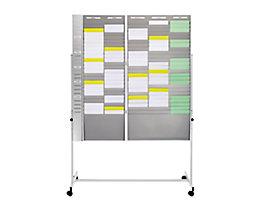Ultradex Tafelständer - zum Einhängen von Karten-Sortiertafeln - fahrbar