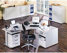 FINO Schreibtisch mit C-Fußgestell - höhenverstellbar 680 – 760 mm, BxT 1800 x 800 mm