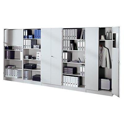 Regal mit zwei Fachböden - HxBxT 1270 x 800 x 400 mm - weiß