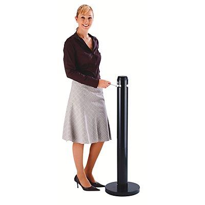 Rubbermaid Cendrier-colonne en aluminium - noir - hauteur 1041 mm, Ø 324 mm