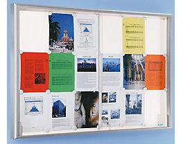 office akktiv Schaukasten, Alu-Rahmen, Schiebetüren - 8 x DIN A4, BxHxT 910 x 670 x 50 mm