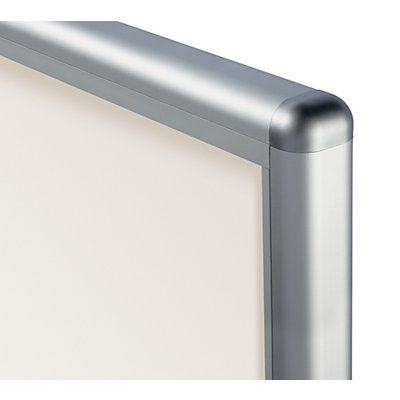 office akktiv Schaukasten, Alu-Rahmen, Drehtüren - Kapazität 12 DIN A4-Blatt, HxBxT 970 x 910 x 50 mm