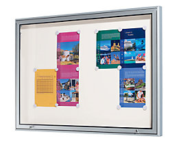 office akktiv Schaukasten für Innen und Außen - Alu-Rahmen, Kapazität 4 DIN A4-Blatt, HxBxT 710 x 530 x 50 mm