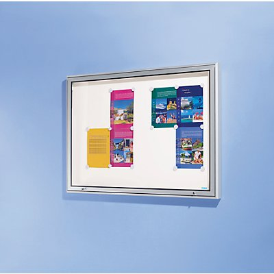 OFFICE AKKTIV Schaukasten, Alu-Rahmen, für Innen und Außen - Kapazität 18 DIN A4-Blatt, HxBxT 1010 x 1370 x 50 mm