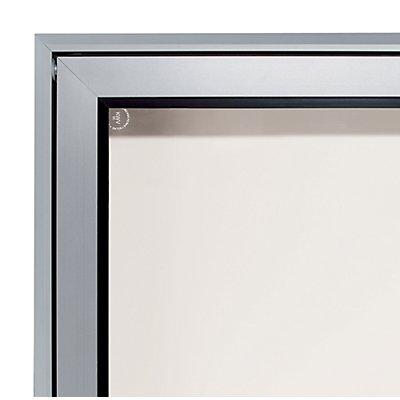 office akktiv Schaukasten, Alu-Rahmen, für Innen und Außen - Kapazität 2 DIN A4-Blatt, HxBxT 410 x 530 x 50 mm