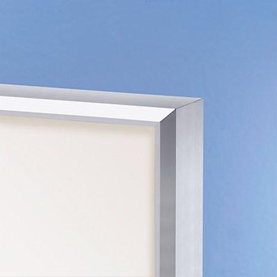 office akktiv Schaukasten, Alu-Rahmen, Drehtüren - Kapazität 18 DIN A4-Blatt, HxBxT 970 x 1330 x 50 mm