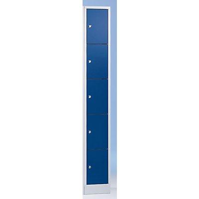 Wolf Schließfachschrank in Komfort-Größe - 5 Fächer, Breite 400 mm