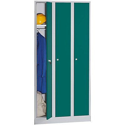 Wolf Garderobenschrank in Komfort-Größe - 3 Abteile, Abteilbreite 300 mm
