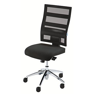 office akktiv Operator-Drehstuhl, Rückenlehnenhöhe 550 mm - Punktsynchron-Mechanik, Flachsitz