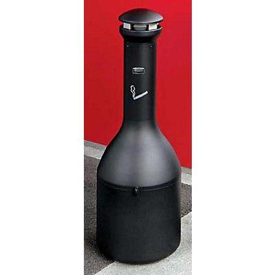 Rubbermaid Cendrier sur pied en acier galvanisé - hauteur 1000 mm, Ø 330 mm - noir