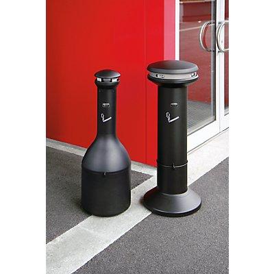 Rubbermaid Standascher aus galvanisiertem Stahl - Höhe 1000 mm, Ø 330 mm - schwarz