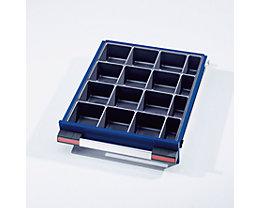 Schubladeneinteilungs-Set - 16 Kleinteilekästen - für Schubladenhöhe ab 120 mm