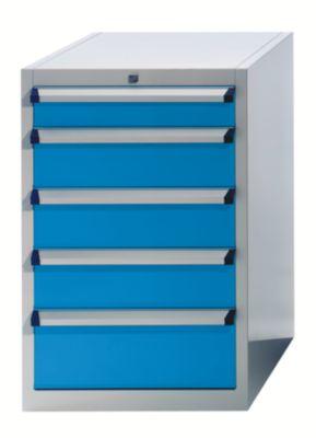 EUROKRAFT Schubladenschrank - HxBxT 850 x 564 x 572 mm - Schubladen 1 x 50, 2 x 100, 2 x 150, 1 x 200 mm