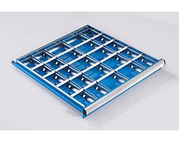 Schubladeneinteilungs-Set, 2 Längs- und 4 Querteiler, für Schubladenhöhe 150 mm für Schrankbreite x -tiefe 564 x 572 mm