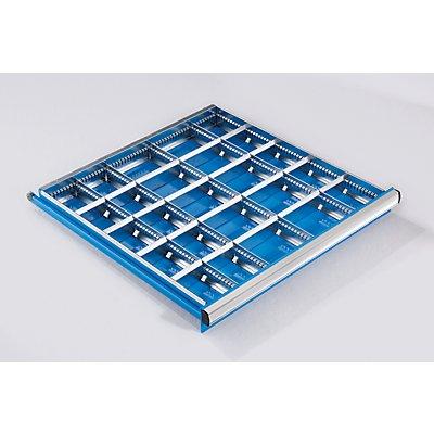 Schubladeneinteilungs-Set - 2 Längs- und 4 Querteiler, für Schubladenhöhe 150 mm