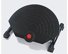 EUROKRAFT Fußstütze - Gasfeder-Höhenverstellung 110 – 320 mm - neigungsverstellbar