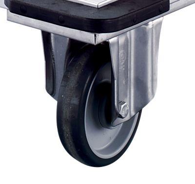 Edelstahl-Plattformwagen - Tragfähigkeit 350 kg