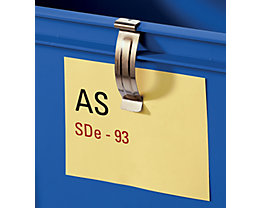 Federclip - zum Befestigen von Etiketten - VE 10 Stk