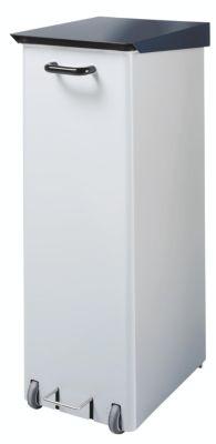 Reinraum-Abfallsammler, Stahlblech - 120 l Inhalt - HxBxT 970 x 370 x 520 mm