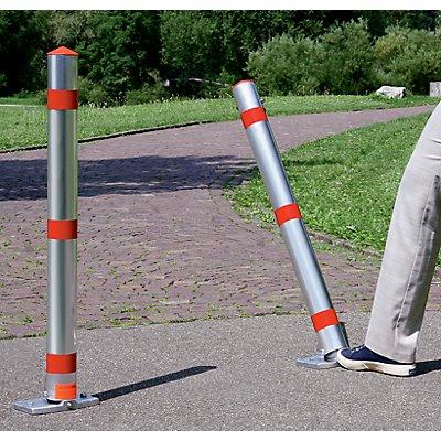 Sperrpfosten, Alu-Rundrohr, abschließbar - ohne Fußpedal