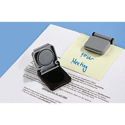 Maul Magnetclip, VE 20 Stk - LxB 40 x 36 mm - Magnetschnapp-Automatik, grau/schwarz