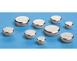 Super-Kraftmagnet, VE 10 Stk - verchromt, Oberfläche gebürstet