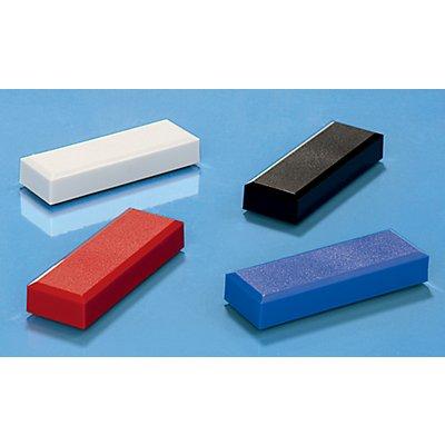 Maul Rechteckmagnete, VE 60 Stk - LxB 53 x 18 mm, Haftkraft 1 kg - farbig sortiert, weiß, rot, blau, schwarz