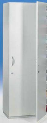 office akktiv Flügeltürenschrank - HxBxT 1864 x 615 x 440 mm, 4 Fachböden - lichtgrau RAL 7035 mit 1 Flügeltür