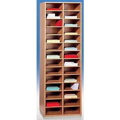 office akktiv Sortierregal, schmal - HxBxT 1864 x 615 x 420 mm, 28 Fächer DIN A4