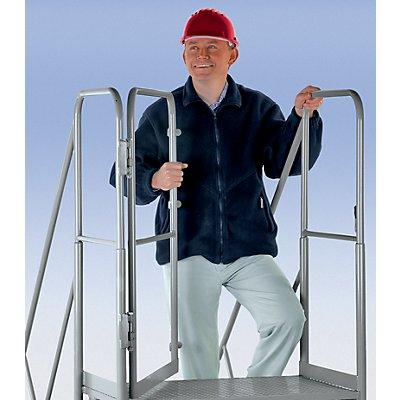 Geländer und Durchgangstür, 2-seitig - für Plattformtreppe - Option gegen Mehrpreis