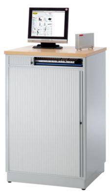 RAU Computer-Arbeitsplatz - HxBxT 1110 x 720 x 660 mm, ohne Monitorgehäuse