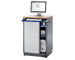 RAU Poste informatique - h x l x p 1110 x 720 x 660 mm, sans compartiment écran