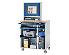 RAU Poste informatique - h x l x p 1820 x 1030 x 660 mm, avec compartiment écran
