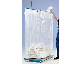 Sac-poubelle - en polyéthylène transparent - capacité 500 l, lot de 100