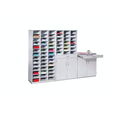 office akktiv Bloc multicases, modèle large - h x l x p 1864 x 913 x 440 mm, 21 casiers format A4