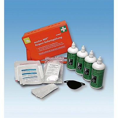 Erste-Hilfe-Set - Augen-Sofortspülung - in Kunststoffbox mit Wandhalterung