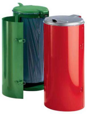 Stahlblech-Abfallsammler für 120-l-Sack - mit Einflügeltür