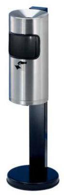 Sicherheits-Standascher mit Abfallsammler - Edelstahl - Gesamthöhe 825 mm, Ø Ascherfuß 250 mm