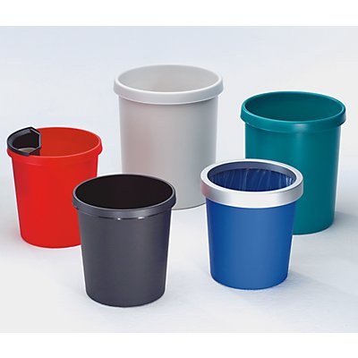 helit Corbeille à papier en plastique - capacité 18 l, hauteur 320 mm, lot 6 pces