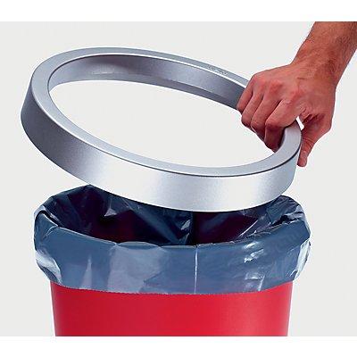 Aufsatzring aus Kunststoff - VE 6 Stk, für 18-l-Papierkorb