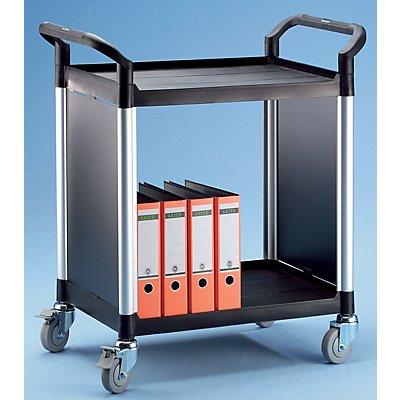 Allzweckwagen, mit Metallwänden - mit 2 Seitenwänden, 2 Etagen - LxBxH 850 x 480 x 950 mm