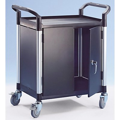 Allzweckwagen, mit Metallwänden - mit 2 Seitenwänden, 1 Rückwand, Flügeltüren