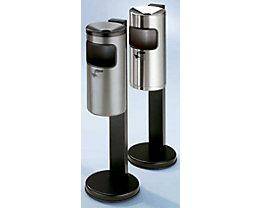 Combiné sur pied cendrier de sécurité-collecteur de déchets - hauteur h.t. 825 mm, Ø pied du cendrier 250 mm