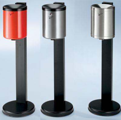 Sicherheits-Standascher, 6 l Fassungsvermögen - Stahlblech pulverbeschichtet, Höhe 825 mm, Ø 250 mm